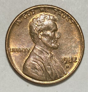 1982 D Lincoln Memorial 1 Cent Double Die Obverse Error Circulated Coin  (2540)