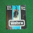 WEBRA GLOW PLUG STANDARD LONG REACH #3, BRAND NEW IN PACK, MODEL AIRPLANE ENGINE