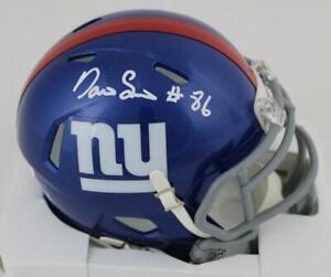 Darius Slayton Signed New York Giants Speed Mini Helmet JSA Witness COA