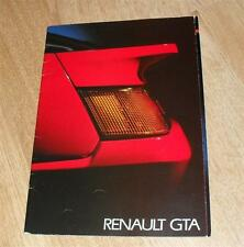 Renault GTA Alpine V6 Turbo Brochure 1987