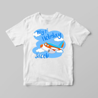Personalised My 1st First Holiday Boys Children's Kids T Shirts T-Shirt Top
