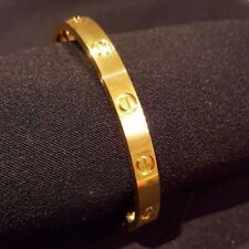 Love Forever Screw Embossed Bracelet Rose Gold Bangle Cuff Trendy Jewelry Prom
