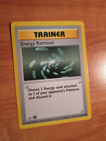 LP/NM 1st edition Pokemon ENERGY REMOVAL Card BASE 92/102 First ed Shadowless