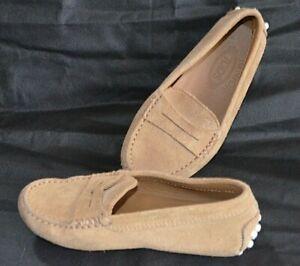 Tod's Junior Smart Designer Boy's Suede Loafer Shoes Size: 28