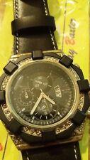 orologio crono-look Jay Baxter cinturino vera pelle-strasse-datario - unisex C