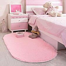 Area Rug Soft Kids Room Girls Mat Shaggy Pink Nursery Mat Home Play Room New