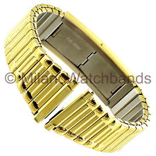 16-20mm Timex Fast Fit Expansion Faux Buckle Stainless Gold Tone Watch Band 813Y