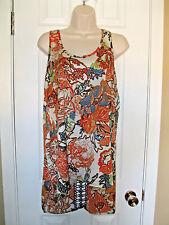 **LILY WHITE** Asymmetrical Shirt Top with crochet detail size ((M)) EUC.