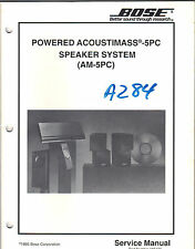 Bose Service Manual~Powered Acoustimass-5 pc Series Speaker System am-5pc