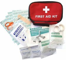 Small Mini Handy Size 31pc First 1st Aid Kit ZIPPED Belt Pouch Cycling Running.
