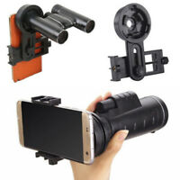 Portable Binocular Monocular Spotting Scope Telescope Smart Phone Adapter Mount