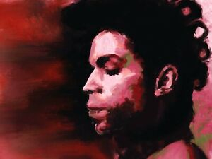 Prince original contemporary painting in acrylic on canvas by Brian Tones