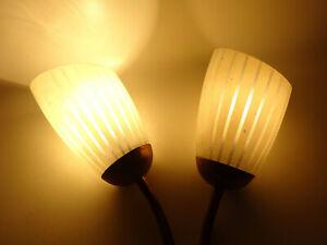 Vintage Wandlampe 2flamig 1950er 1960er Tütenlampe Mid Century Seeger Stadtilm