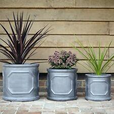 32cm Clayfibre Chelsea Cylinder Planter Plant Pot Container Garden Feature Gift