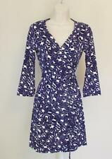 Diane von Furstenberg New Julian mini Spotted Floral cat purple 10 wrap dress