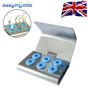 1X Dental Stainless Steel Scaler Tips Holder Block Stand Z2 With Cover Autoclave
