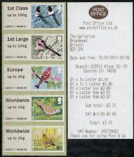 WINCOR TYPE II BIRDS 2 II COLLECTOR STRIP of 5  SG FS11-15 POST & GO