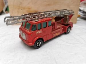 K-15 Merryweather Fire Engine, in Fair Condition. 1971 Lesney Matchbox superking