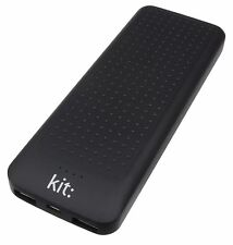 Kit 10000 mAh Universal Portable Power Bank Essentials Range with Two USB BLACK
