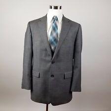 Chap's 2 Button Mens Blazer Sports Coat Jacket 42L 100% Wool Gray