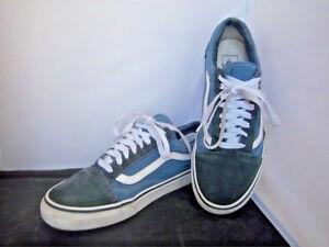 VANS - Unisex Blue Canvas Suede Shoes - SIZE - Men's 9.5   Women's 11