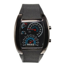 High Quality Men's LED Blue Light All-matching Speedometer Wrist Watch Black US
