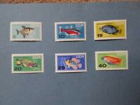 German Democratic Republic Stamps 1966 tropical fish unmounted mint set sc 865-8