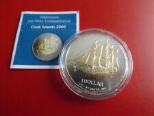 *Cook Island 1 Dollar 2009 1 Oz Silber (1 Oz) Goldapplikation* Bounty*(Schub113)