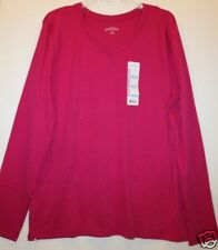 Eddie Bauer NWT Women's Plus Rhubarb Pink Knit T Shirt Top - Cotton Modal