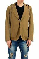 Versace Collection Men's Brown Three Button Hooded Blazer Sport Coat US 38 IT 48