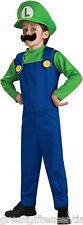 LUIGI Child Costume Large L 12-14 Super Mario Bros Green Nintendo NEW LICENSED