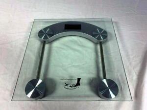 """Used Glass Top Bath Scale w/batteries - 11-3/8""""w x 11-3/8""""L x 1.5""""h w/warranty"""
