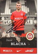 David Blacha SV Wehen Wiesbaden 2015/16 handsignierte Autogrammkarte 15/16