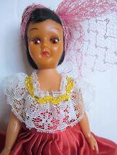 "Vintage 7"" Plastic African American Doll Sleep Open/Close Eyes Made In Hong Kong"
