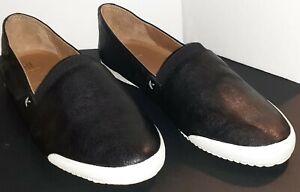 Frye Melanie Slip-On Sneakers Women's Black Leather Size 8 NIB