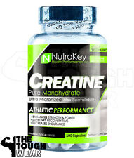 NUTRAKEY CREATINE MONOHYDRATE 1500mg 100CAPS - MUSCLE GROWTH AND STRENGTH
