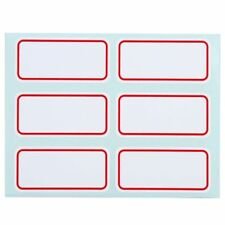12 Sheets White Stickers Self Adhesive Labels Blank Name Number Tags
