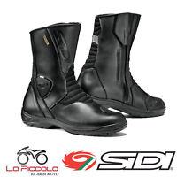 STIVALI BOOTS MOTO SIDI GAVIA PELLE E GORE-TEX  BLACK NERO TURISMO TG.45