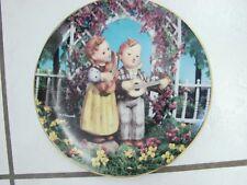 """Hummel Little Musicians Companions 8"""" Collectors Plate Danbury Mint , Banjo"""
