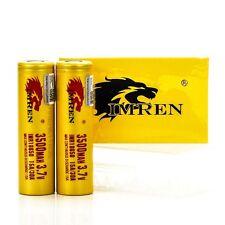 2x Imren 3500mAh 15/30A IMR 18650 batteries | authentic high drain battery