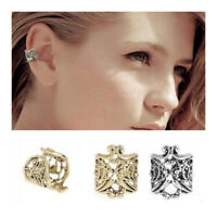 2pcs 1Pair Punk Jewelry Antique Ear Cuff Buckle Clip Earrings Hollow Studs