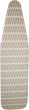 Homz Premium Standard Width Ironing Board Cover and Pad, Taupe/Brown/White