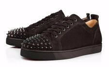 Christian Louboutin Louis Junior Spikes Reglisse Flat Mens Low Top Sneaker 46 13
