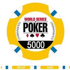 Fiches Ceramica WSOP World Series of Poker Valore 5000