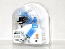 Nokya 7000k 27w Arctic White 881/H27W/2 Halogen Fog Light Bulbs