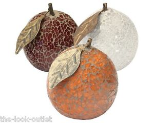 MOSAIC GLASS ORANGES - CHOOSE COLOURS - GREAT FOCAL POINT FOR ROOMS