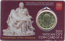 2013 Vaticano/Vatican/Vatikan Coin Card n.4 50 cent