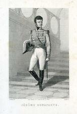 Gravure, Portrait XIX° :  JEROME BONAPARTE par Gaildrau