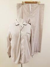 60's/70's Vintage Men's Pajama Set - Cotton/Poly Blend - Size Medium