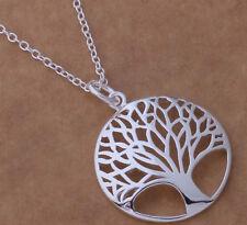Top Qualität Anhänger Lebensbaum.  Silberne Halskette mit Baum des Lebens